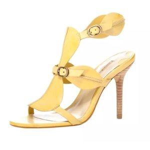 Max Studio 7 Sly Sandal Leather Yellow Citron Shoe